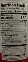 Chocolate hazelnut - Nutrition facts - en