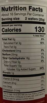 Pirouline Crème Filled Wafers - Nutrition facts