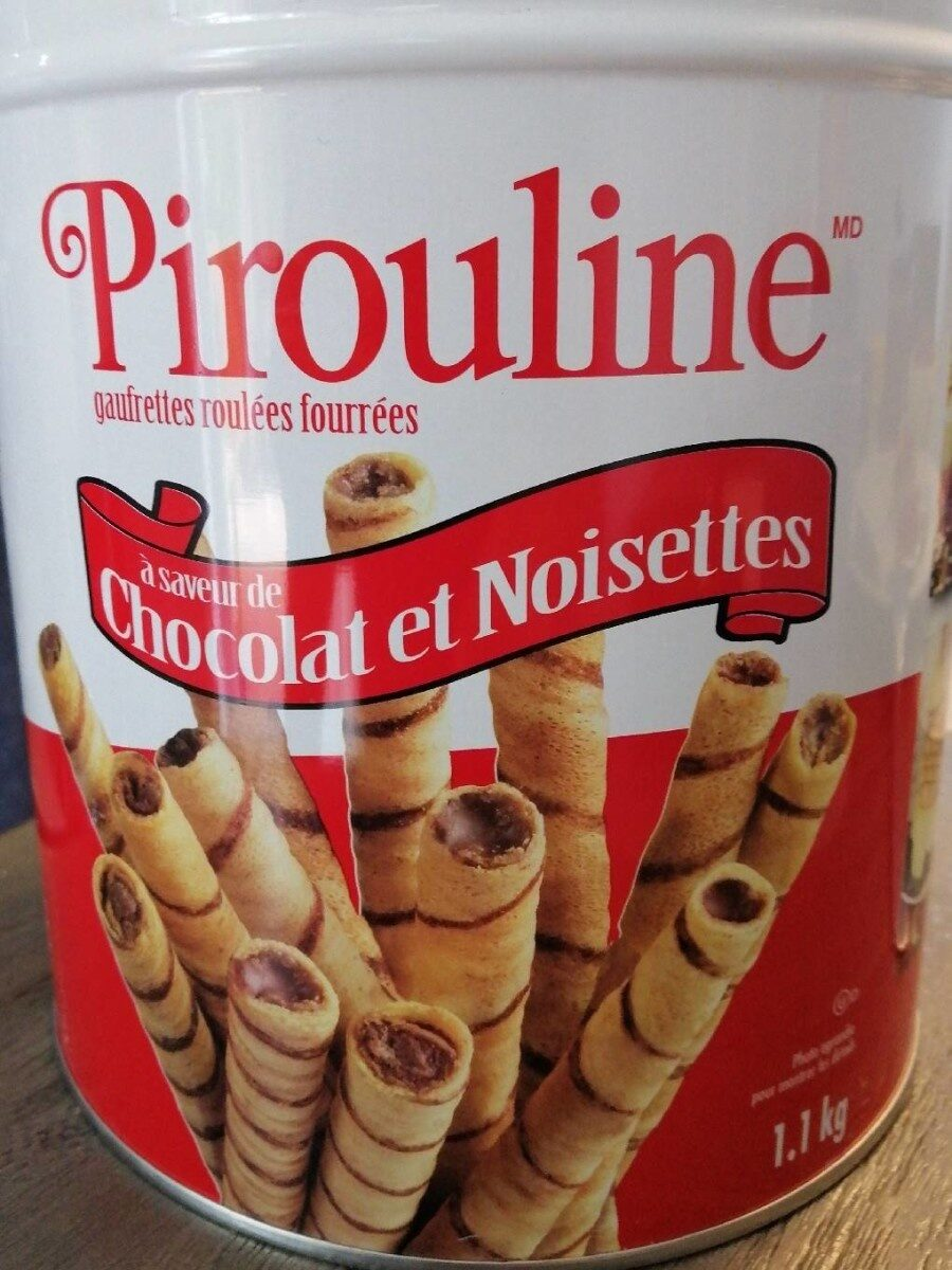 Pirouline chocolate hazelnut filled rolled wafers - Product - en