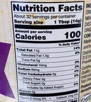 Organic mayo - Nutrition facts - en