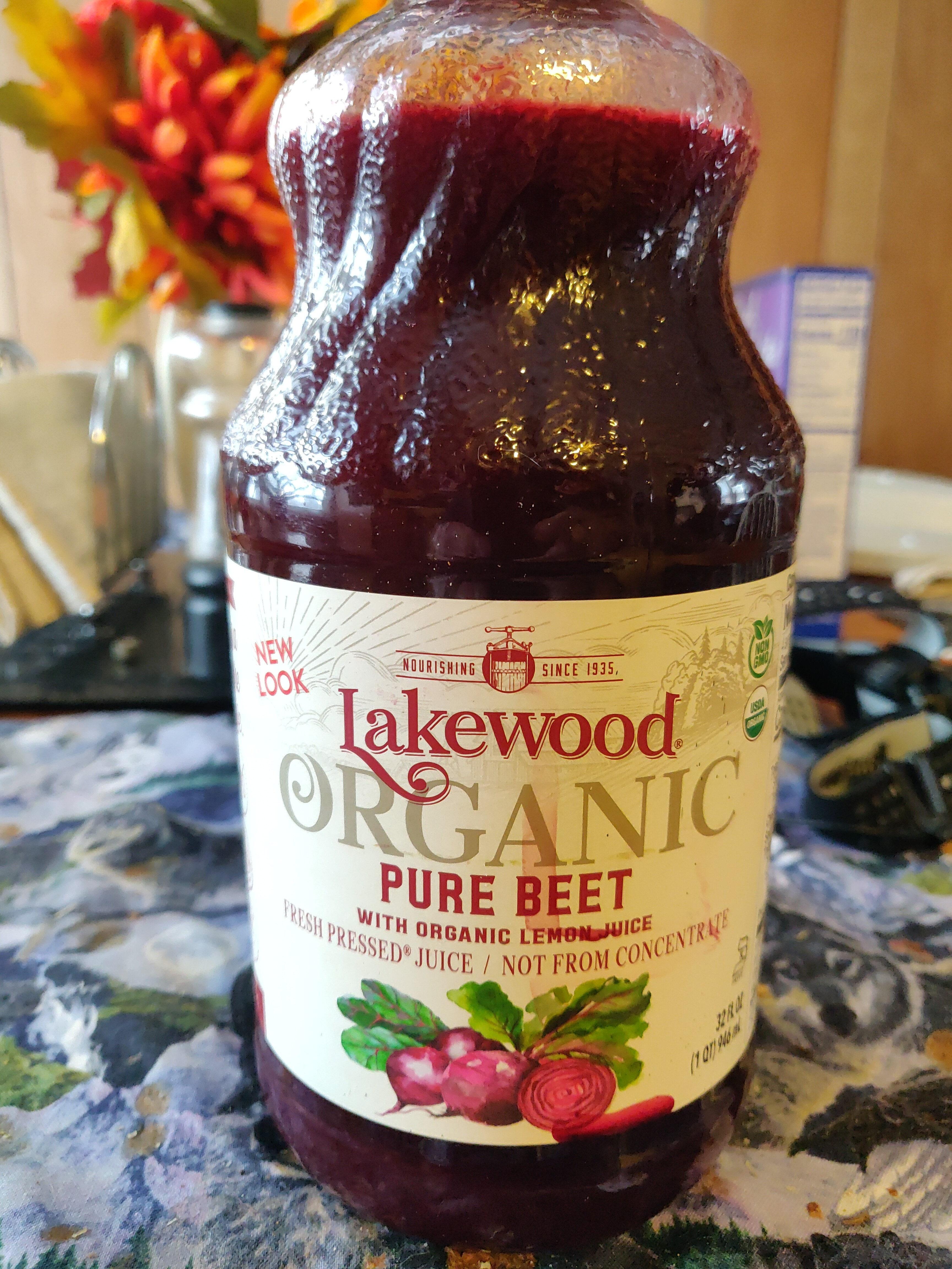 Pure beet with organic lemon juice fresh pressed juice - Product - en