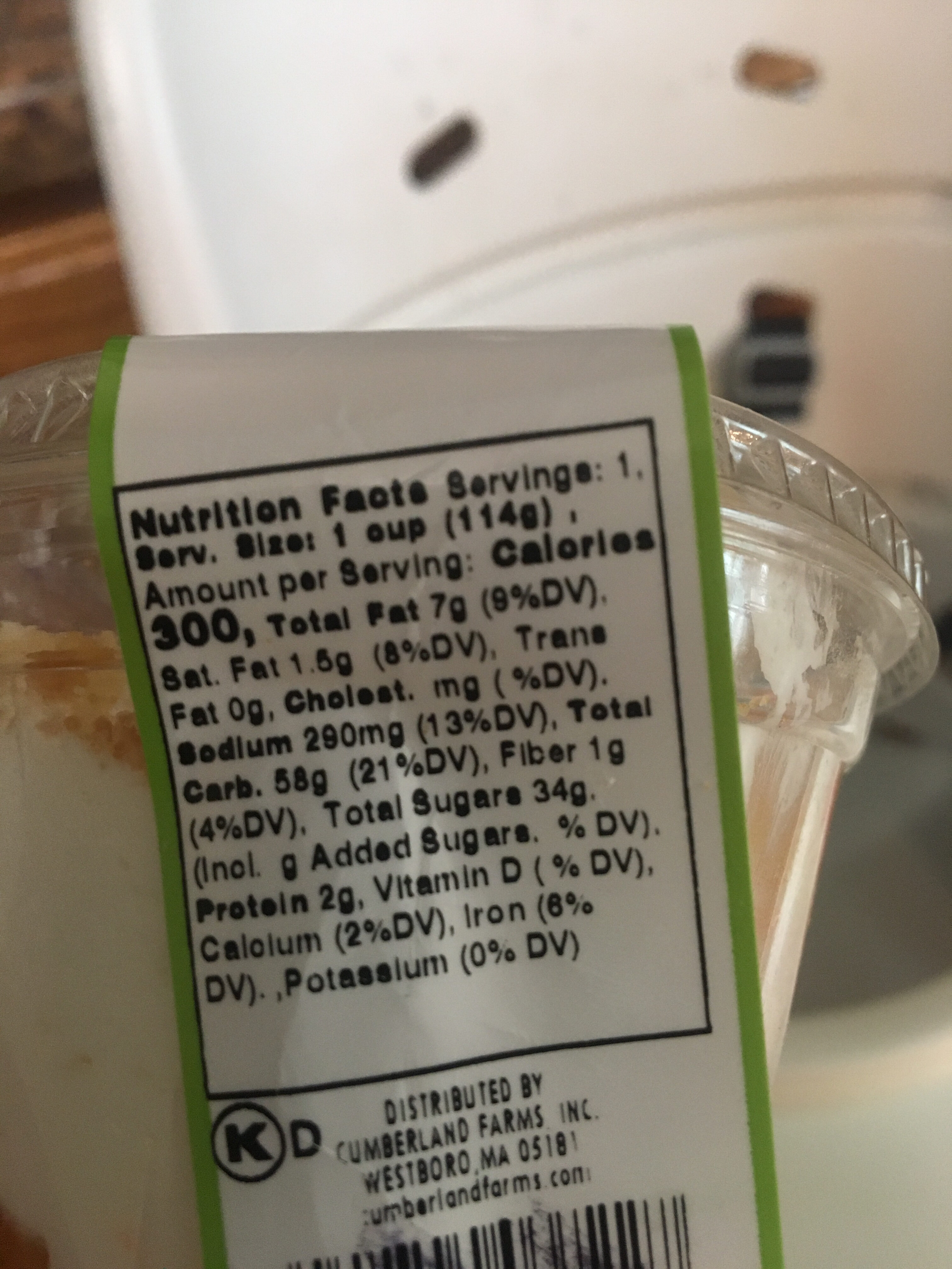 Cake N' Cup strawberry - Nutrition facts