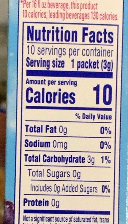Grape drink mix - Nutrition facts - en