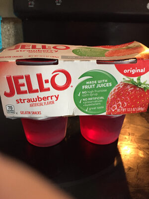Gelatin Snacks, Strawberry - Product - en