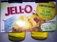 Jell-o Island Pineapple Gelatin Snacks - Product - en