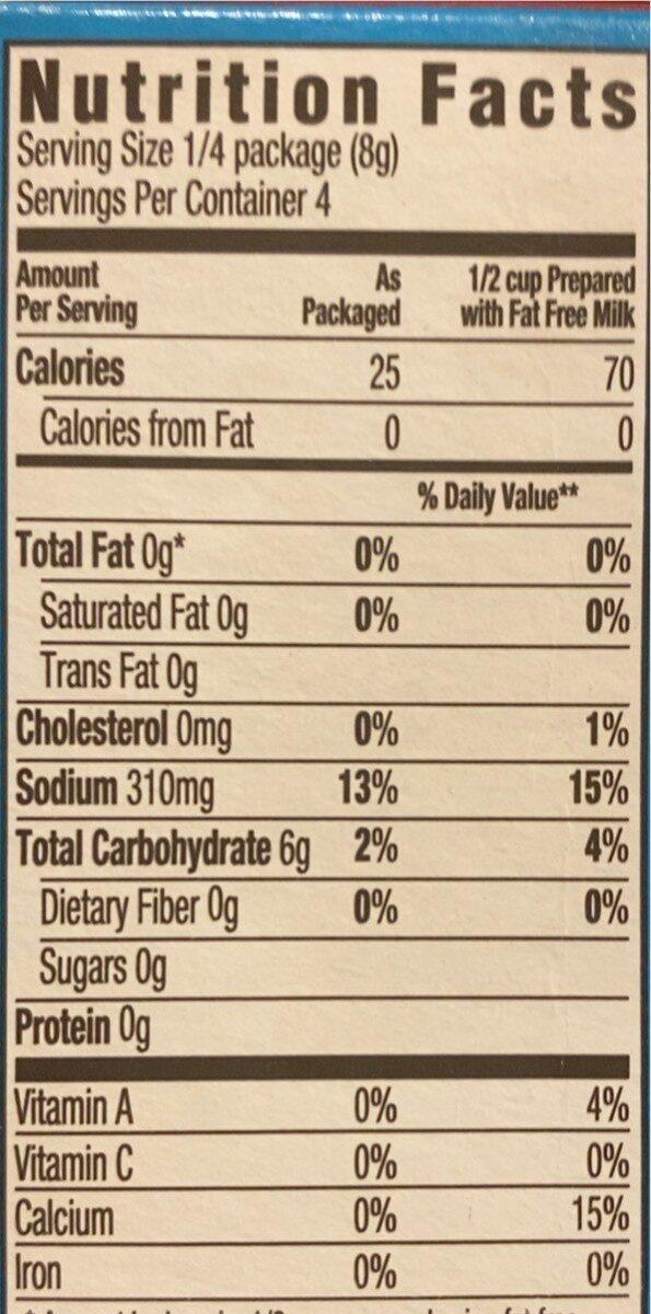 Instant Pudding & Pie Filling, Butterscotch - Informations nutritionnelles - en