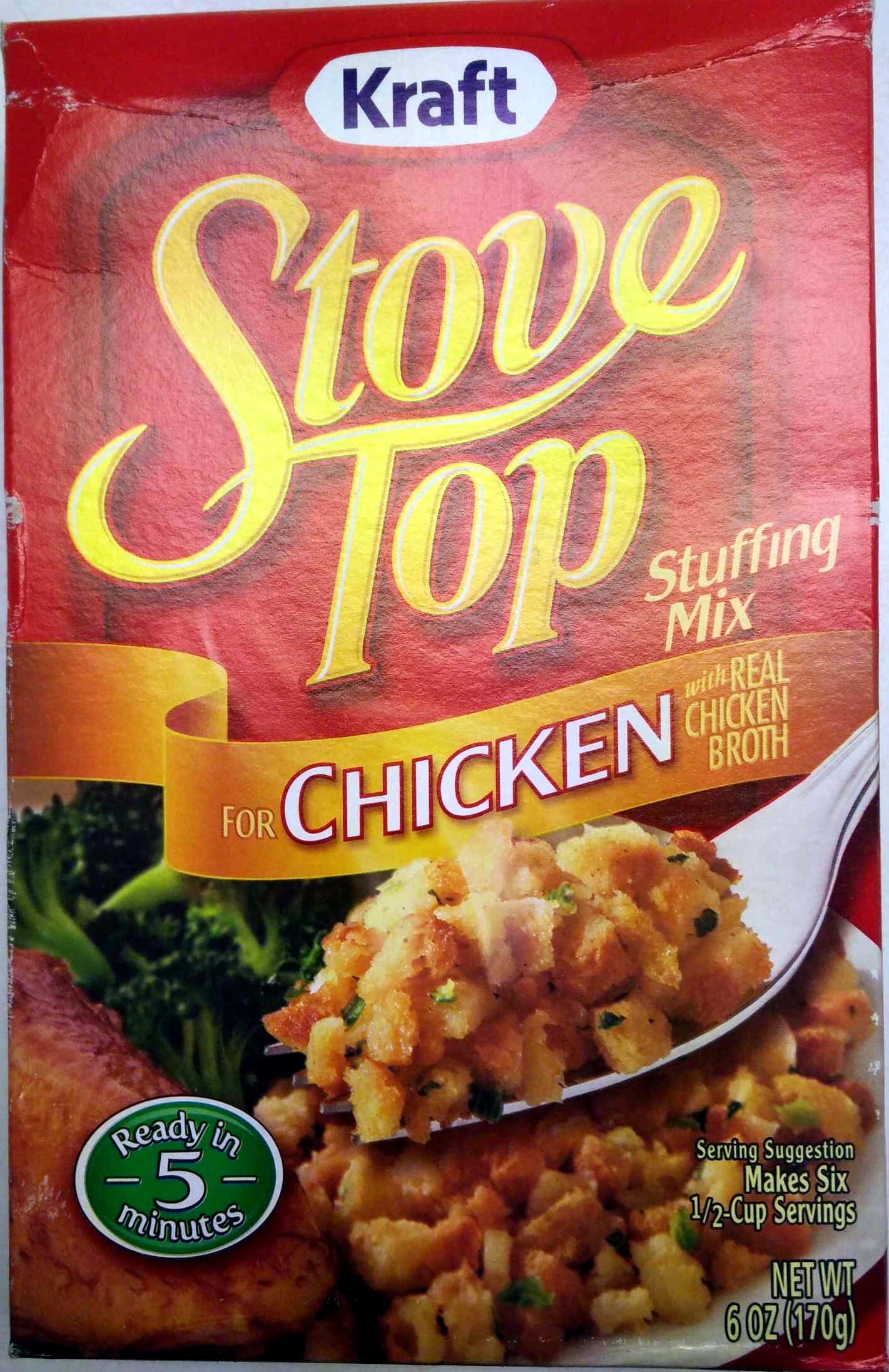 Stove Top Stuffing Mix for Chicken - Kraft - 6 OZ (170g)