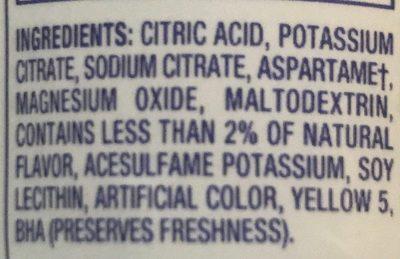 Limonade - Ingredients - en