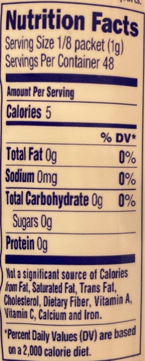 Peach iced tea - Informations nutritionnelles