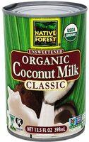Organic coconut milk - Classic - Product