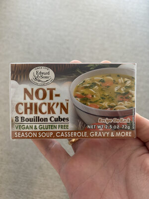 Edward & sons, not-chick'n natural bouillon cubes - Product - en