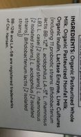 Whole Milk Kefir (Organic) - Ingredients