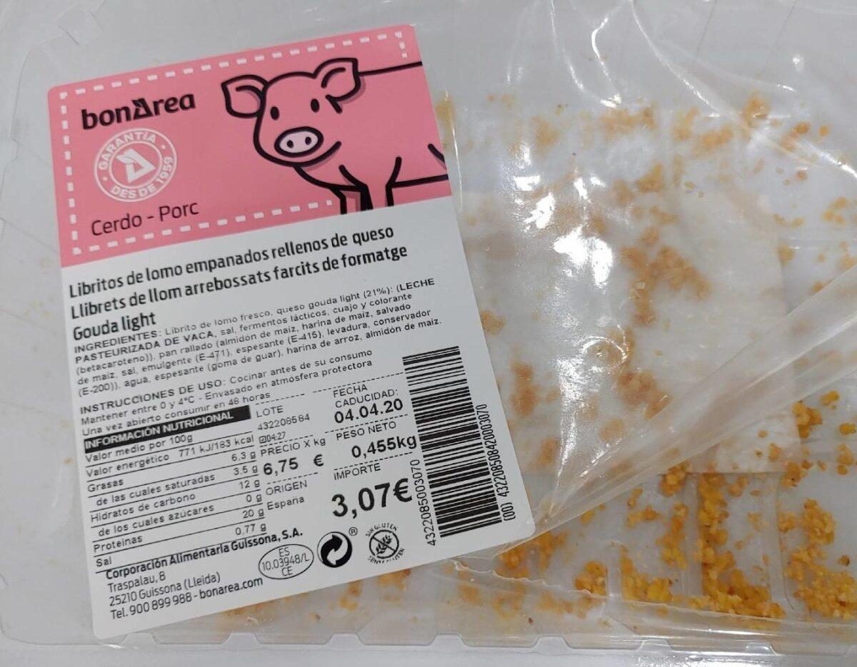 Libritos de lomo empanados rellenos de queso - Producte - es