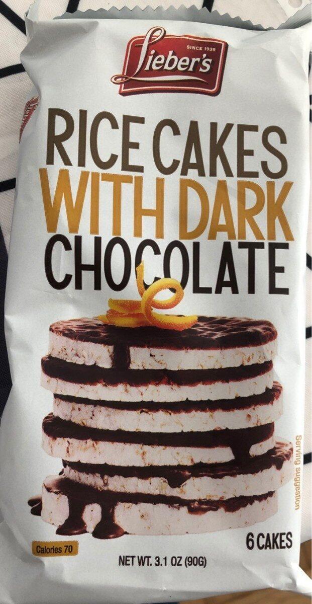 Galettes riz au chocolat noir - Produit - en