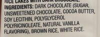 Galettes riz au chocolat noir - Ingrédients - en