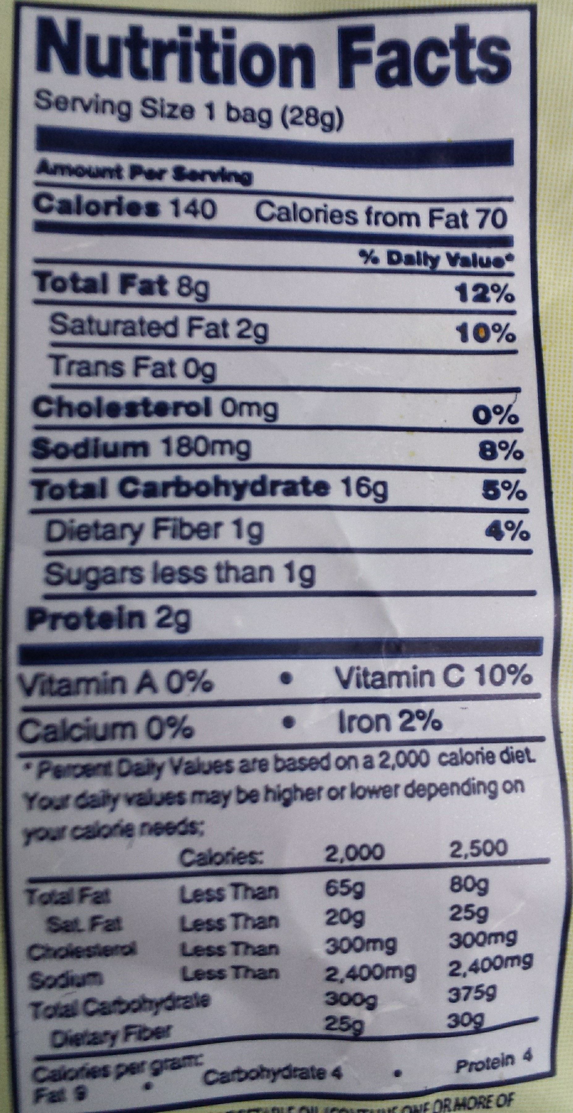 Lieber's, Kettle Cooked Potato Chips, Barbecue - Nutrition facts