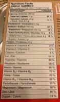 Burger a base vegetale - Informations nutritionnelles - fr