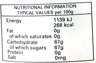 Strawberry Conserve - Nutrition facts