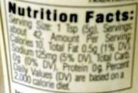 Traditional dijon mustard - Nutrition facts - en