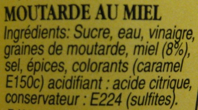 Moutarde au miel - Ingredients