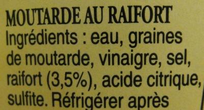 Moutarde pr par e au raifort maille 200 ml - Desherbant eau sel vinaigre ...