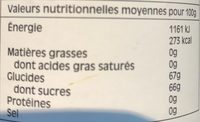 Wild Blueberry - Nutrition facts - fr