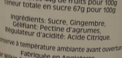 Confiture de Gingembre - Ingredients