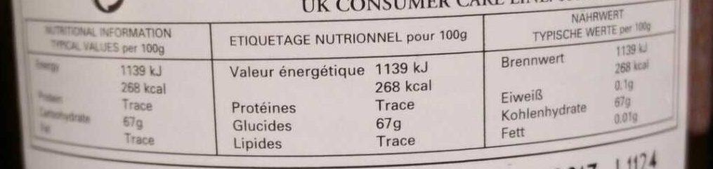Tiptree' Orange Medium Cut Marmelade - Nutrition facts