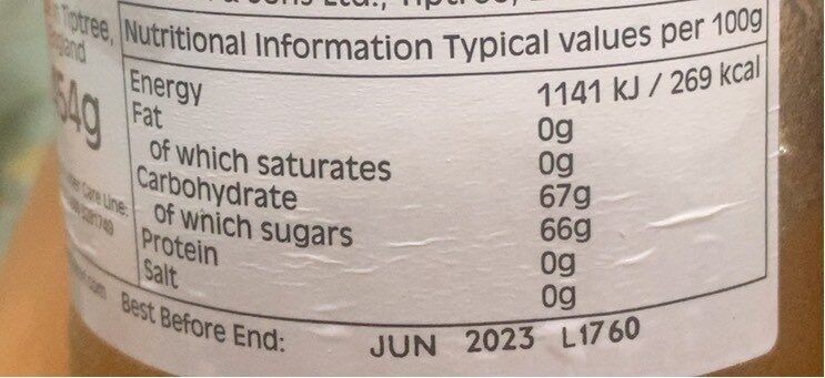 'Old Times' Orange Fine Cut Marmalade - Nutrition facts - en