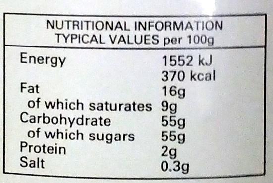 Chip tory lemon curd - Nutrition facts - en