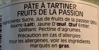 Marmelade Fruits De La Passion - Ingrédients