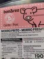 Morro frito - Ingredients - es