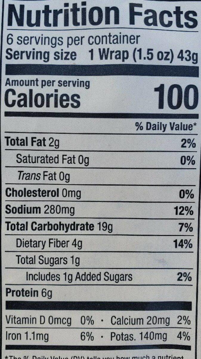 Kale & Spinach - Nutrition facts - en