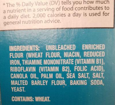 Nabisco premium crackers 1x16 oz - Ingredients - en