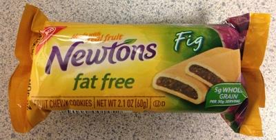 Nabisco newtons lunchbox cookies fig fat free1x2.1 oz - Product - en