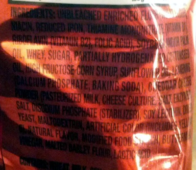 Ritz Bits Cheese - Ingrediënten - en