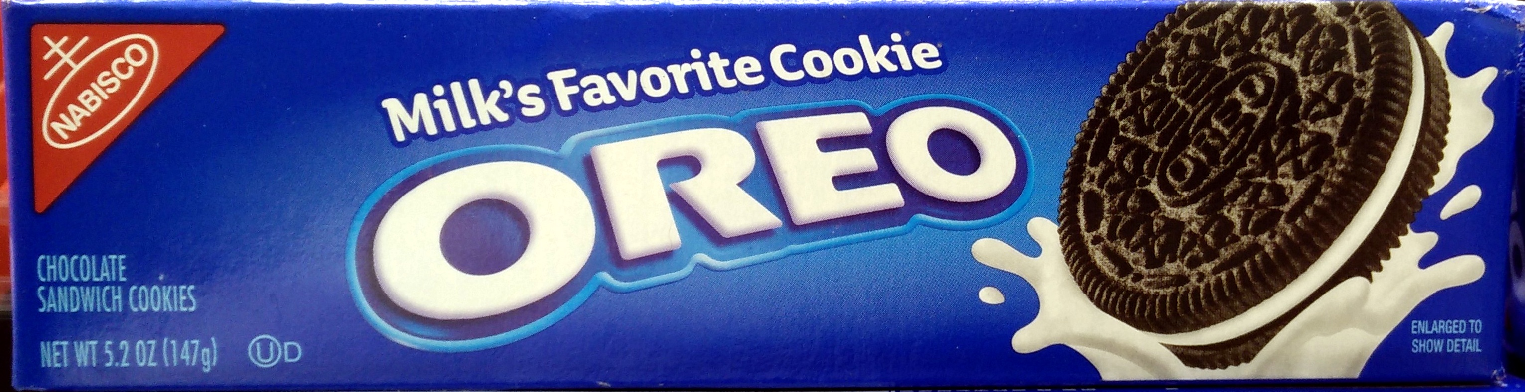 Nabisco oreo cookies-convenience pack chocolate 1x5.2 oz - Product - en