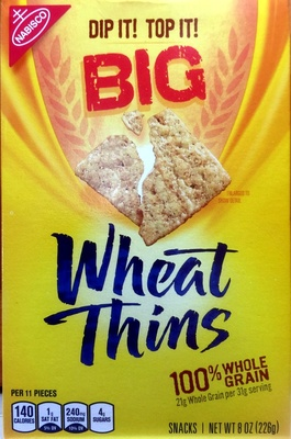 Nabisco wheat thins crackers big baked 1x8 oz - Product - en
