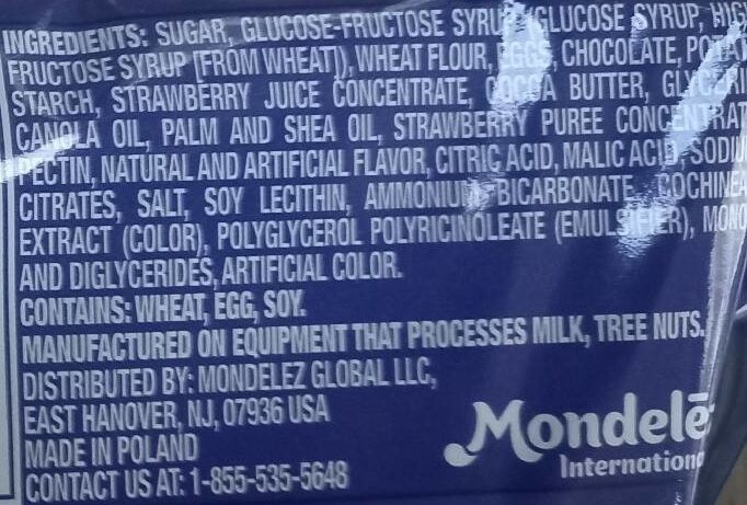 Cookies Strawberry - Ingredienti - en
