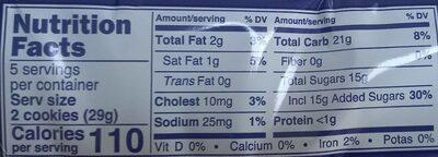 Cookies Strawberry - Valori nutrizionali - en