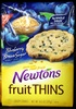 Nabisco newtons fruit thins cookies blueberry brown sugar cafe crisps1x10.500 oz - Produit