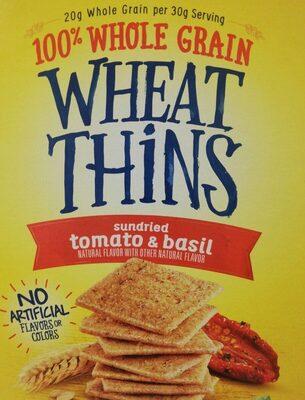 Nabisco wheat thins crackers sun dried tomato & basil 1x15 oz - Product