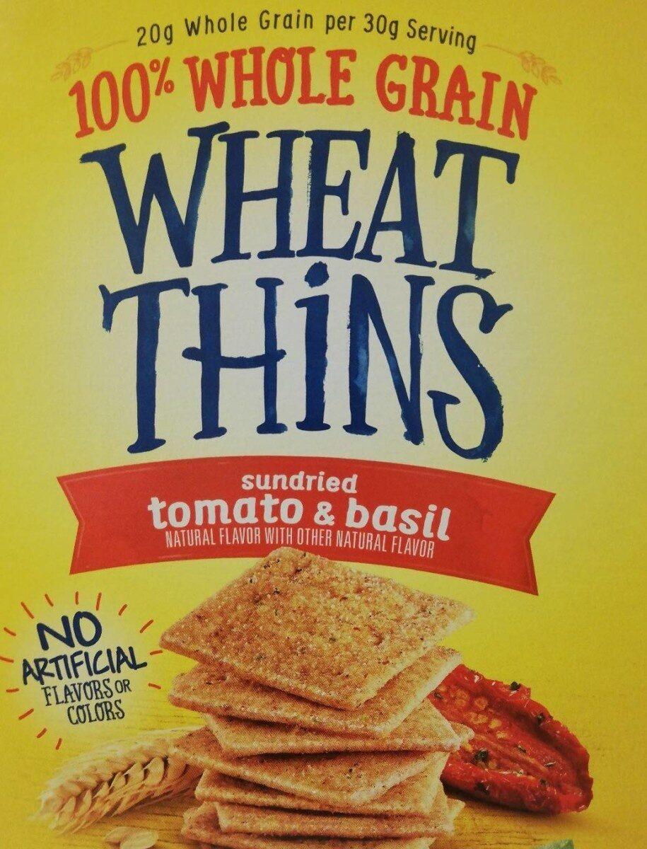 Nabisco wheat thins crackers sun dried tomato & basil 1x15 oz - Product - en