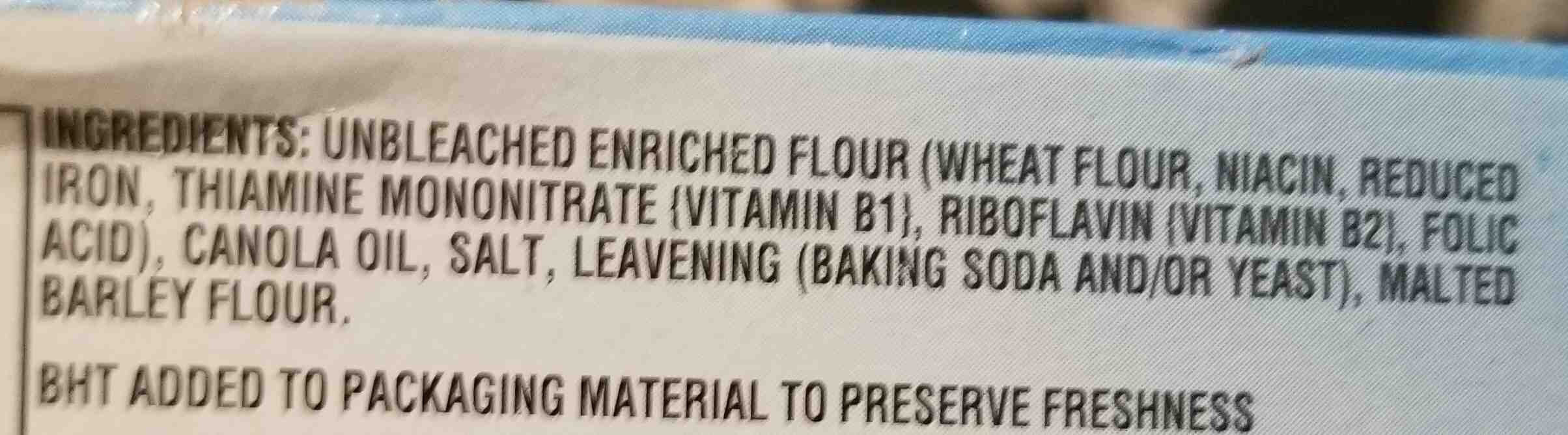 Nabisco premium crackers-mini 1x11 oz - Ingredients - en