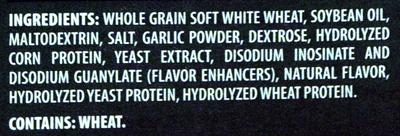Nabisco triscuit crackers roasted garlic 1x9 oz - Ingredients - en
