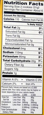 Newtons Fig - Nutrition facts