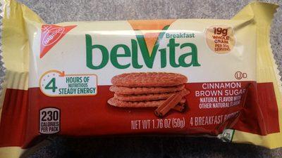 Nabisco belvita cookies cinnamon brown sugar 1x1.76 oz - Produit - en
