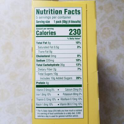 Breakfast biscuits, cinnamon brown sugar - Nutrition facts - en