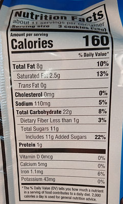 Nabisco chips ahoy! cookies original 12x13 oz - Nutrition facts - en