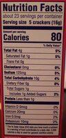 Ritz crackers bacon 1x13.25 oz - Voedingswaarden - en